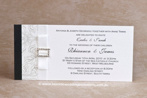 Black tie wedding invitations blog beautiful wedding wedding invitation eternal wedding invitation venetian baroque stopboris Choice Image