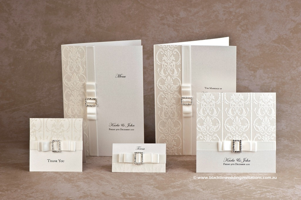 Wedding Invitation - White Wedding