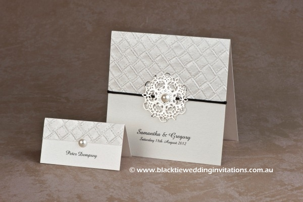 Symmetry Thank you card and place card