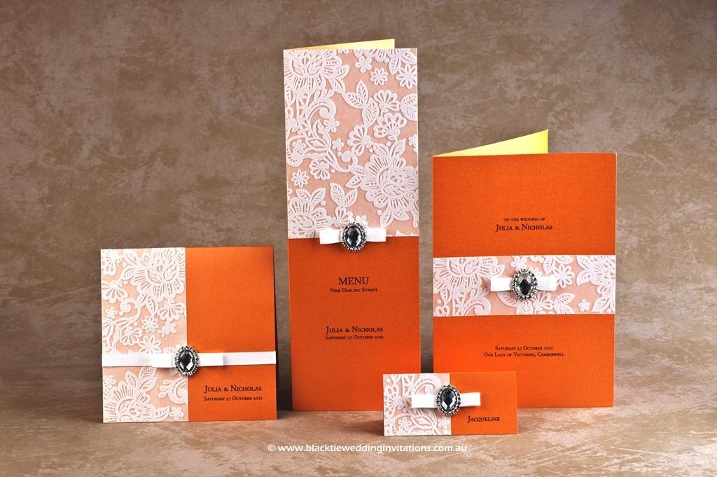 Wedding Stationery Design – Orange Blossom