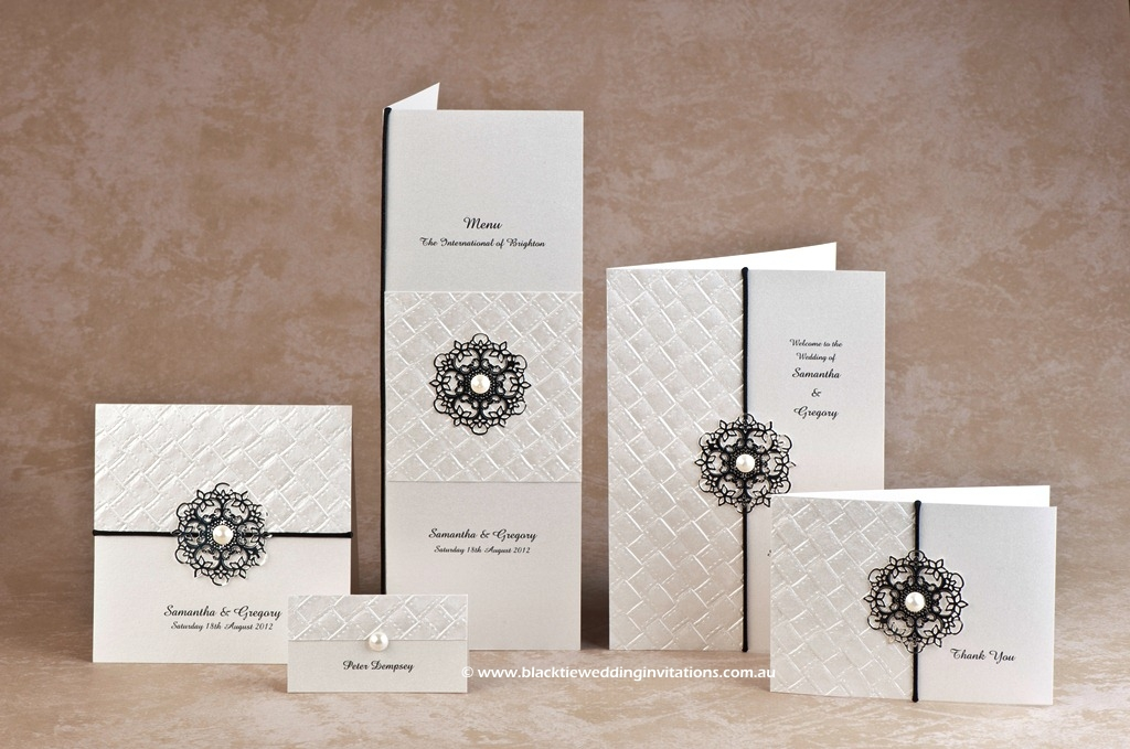 Symmetry Wedding Stationery Design