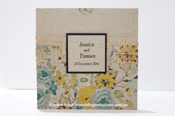 Rustic Invitation: Delicate Bloom
