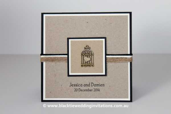 Rustic Invitation: Love Bird