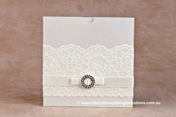 wedding invitation bridal lace