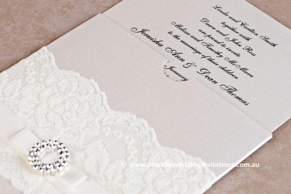 bridal lace - invitation