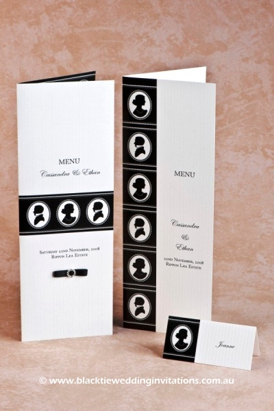 cameo appearance - menus and place card