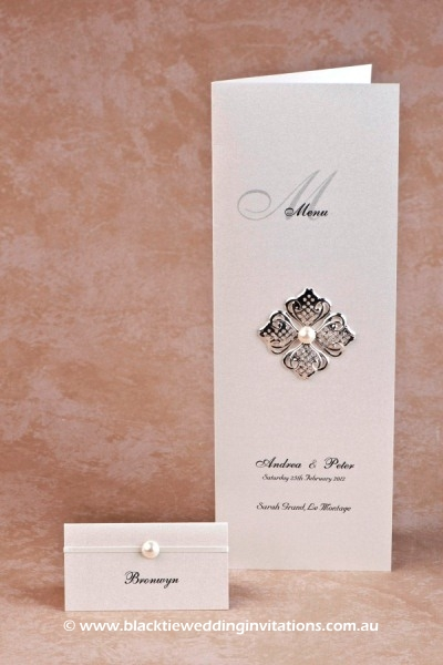 chic - place card and menu