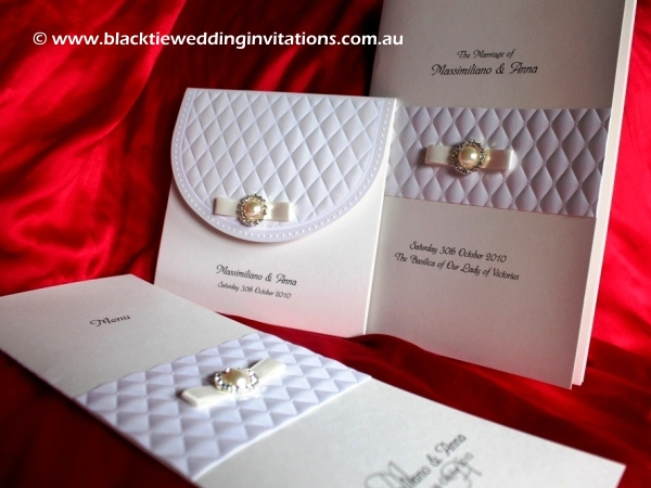 Customised Wedding Invitation - Queen of Diamonds