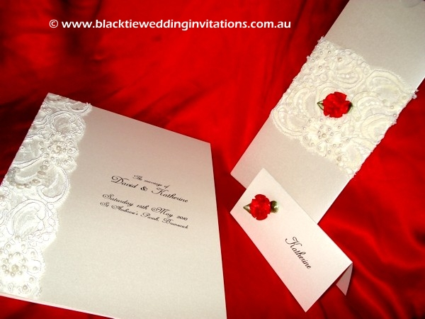 Wedding Invitation - Custom Lace Allure