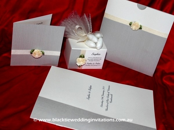 Customised Wedding Invitation - Single Red Rose
