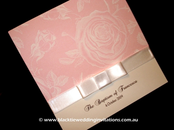 ChristeningInvitation - Vintage Rose
