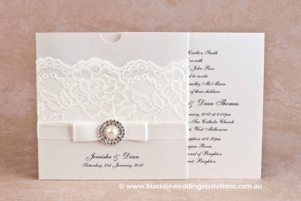 wedding invitation diamonds and pearls