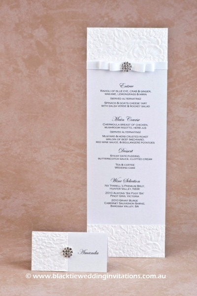 dove - place card and menu
