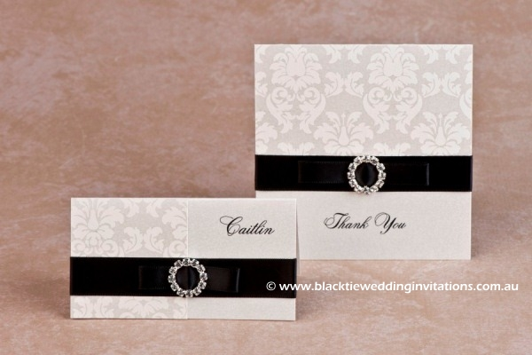 duchess - place card and thank you card