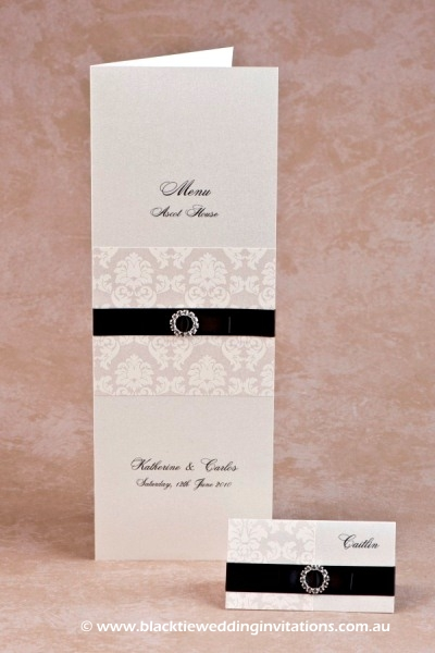 duchess - menu and place card