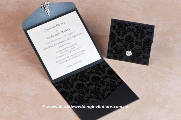 grace ebony - invitation and thank you card
