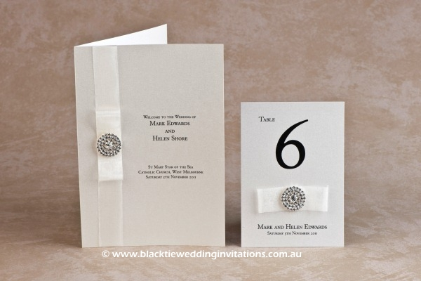 flair - service booklet cover and table number