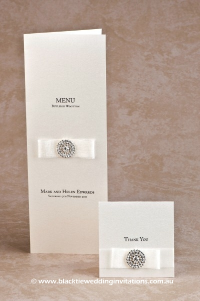 flair - menu and thank you card