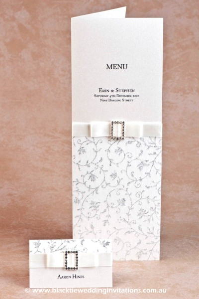 glamour - place card and menu