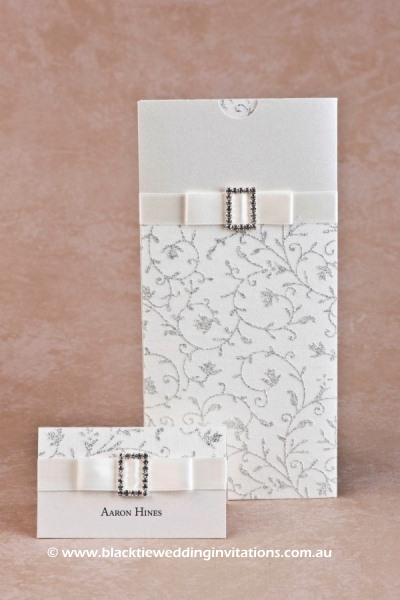 glamour - place card and invitation