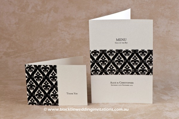 harmony - thank you card and menu