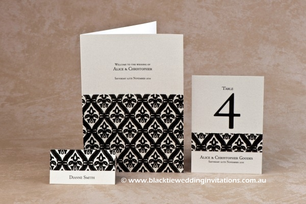 harmony - place card, service booklet cover and table number
