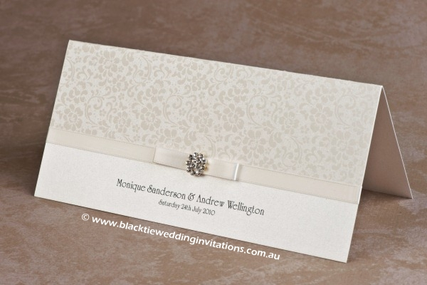 wedding invitation ivory bloom