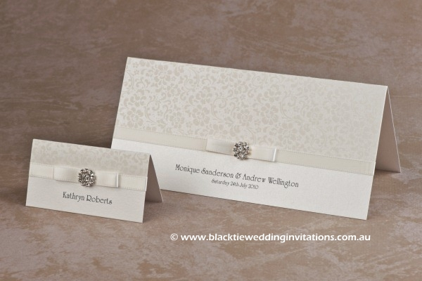 ivory bloom - place card and invitation