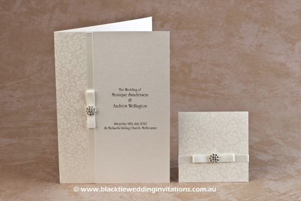 ivory bloom - service booklet cover and thank you card