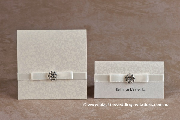 ivory bloom - thank you card and place card