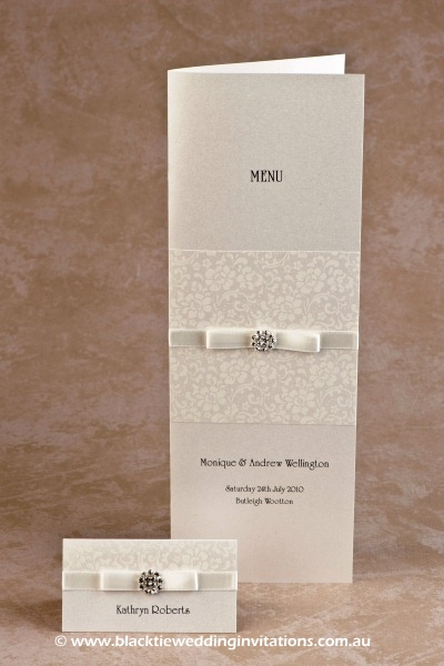ivory bloom - place card and menu