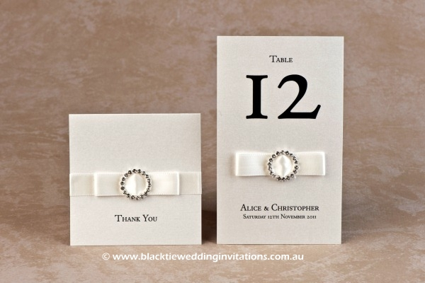 jewel - thank you card and table number