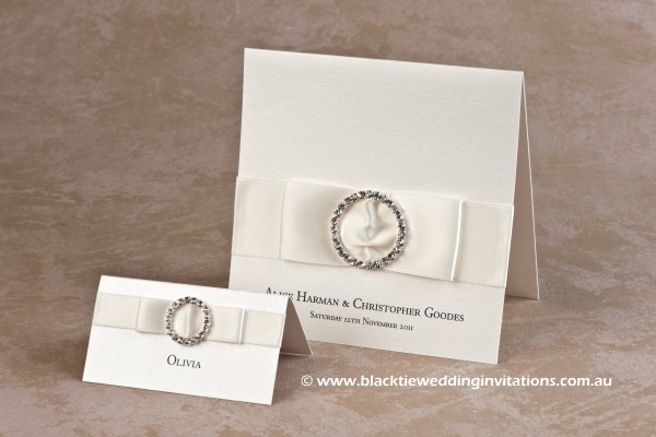 jewel - place card and invitation