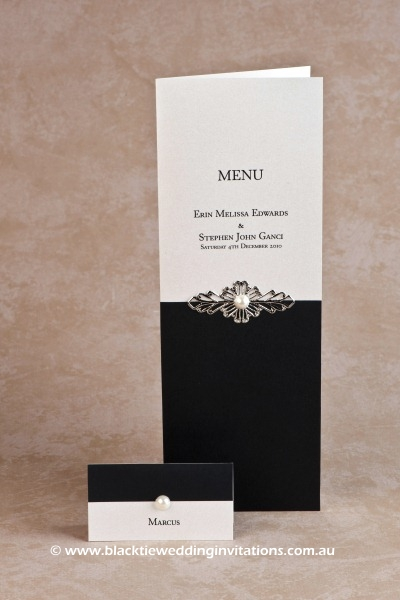 juliet - place card and menu