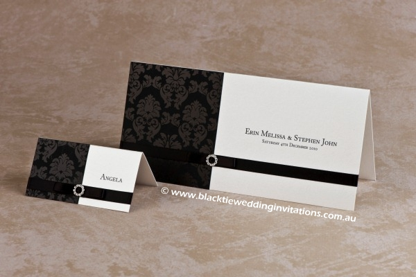 midnight - place card and invitation