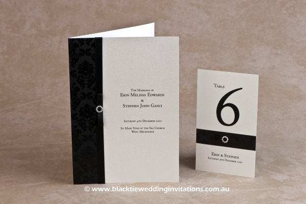 midnight - service booklet cover and table number