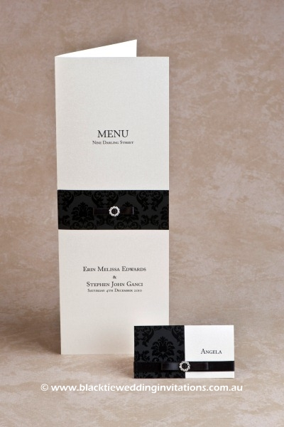 midnight - menu and place card
