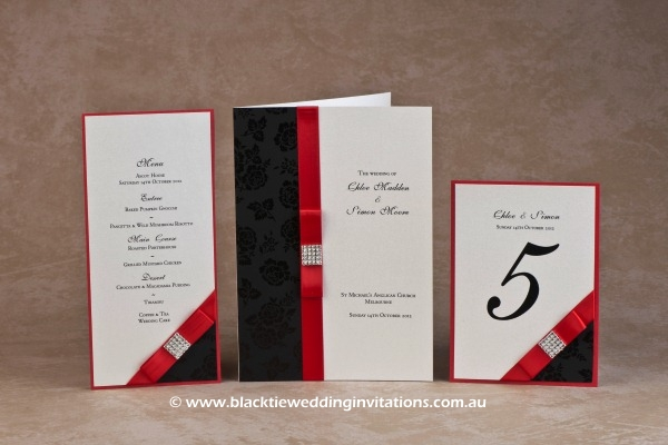 mystery - menu, service booklet cover and table number