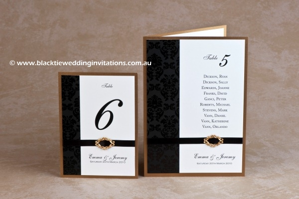old gold - table number and table card with menu