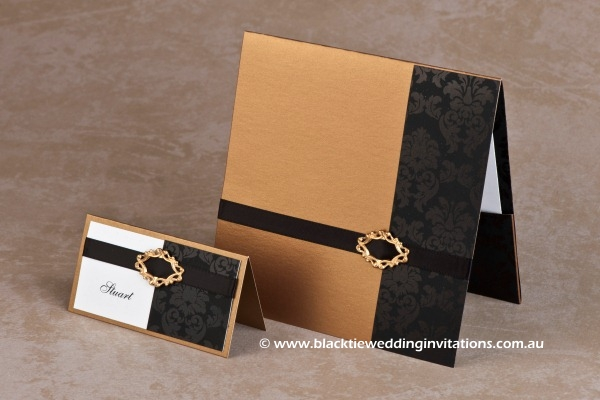 Wedding Invitation - Old Gold