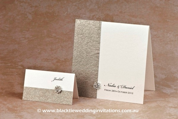 olive grove - place card and invitation