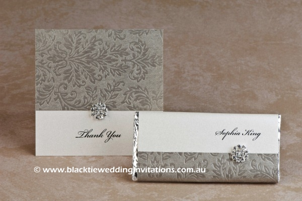 olive grove - thank you card and place card