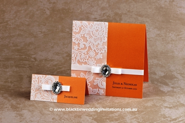 wedding invitation - orange blossom