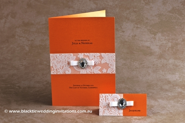 orange blossom - service booklet cover and place card