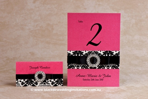palatial - place card and table number