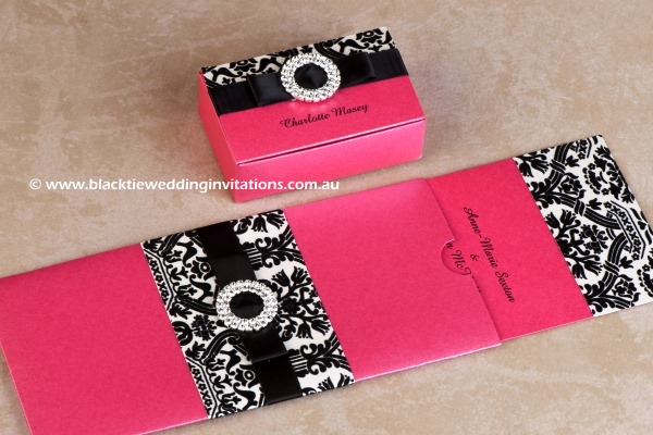 palatial - favour box and invitation