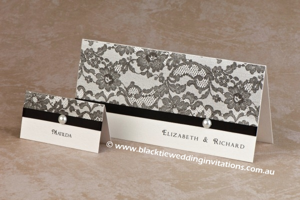 paris - place card and invitation