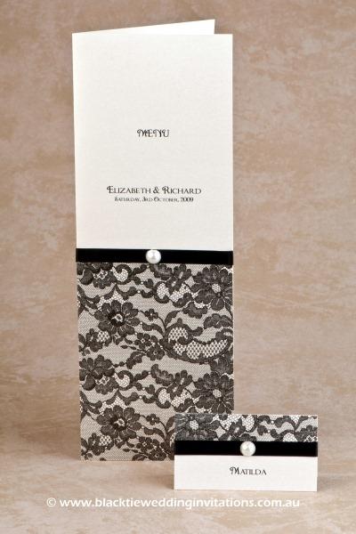 paris - menu and place card