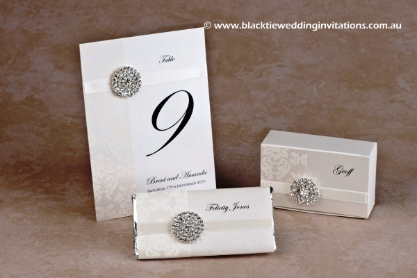 phoenix - table number, personalised chocolate and favour box