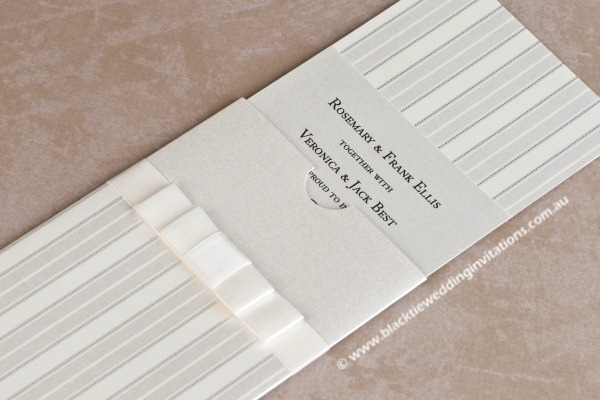 Wedding Invitation - Pin Stripe